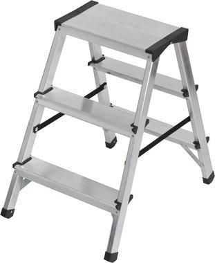 Double stepladder aluminium 2x3 rungs Height ladder 0,61m