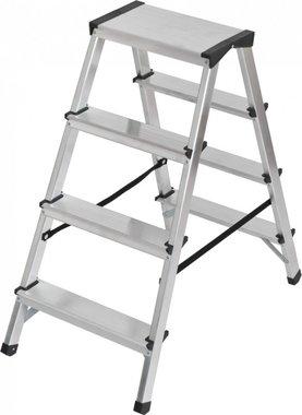 Double stepladder aluminium 2x4 rungs Height ladder 0,82m