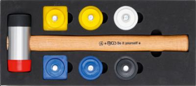 Hammer Set with Interchangeable Heads diameter 43 mm 9 pcs