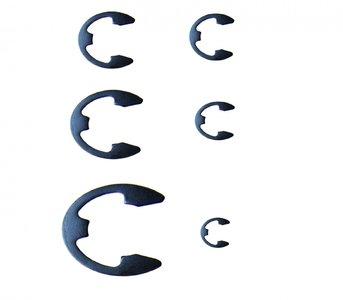300-piece Metric E-Clip Assortment, 1.5-22 mm