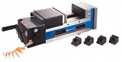 Pneumatic machine clamp extra high clamping force