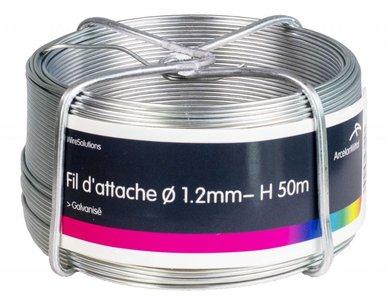 Tie thread zinc plated 1.4 mm 50 mtr-ring